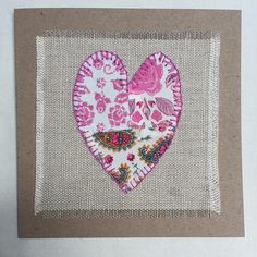 handstitched fabric applique card handmade greeting card