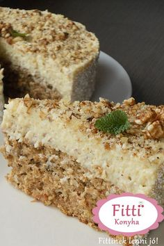 Healthy Cake, Healthy Desserts, Dessert Recipes, Diet Cake, Torte Cake, Hungarian Recipes, Cakes And More, Sweet Recipes, Food To Make