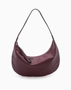 Stradivarius - Flat Hobo Bag Purple 103 - https://clickmylook.com/product/flat-hobo-bag-purple-103/4957778