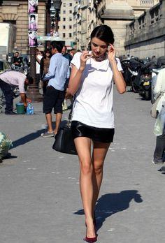 Miranda Kerr Strolls Around Paris