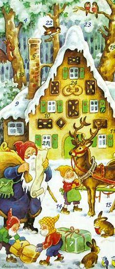 Advent calendar card from Germany
