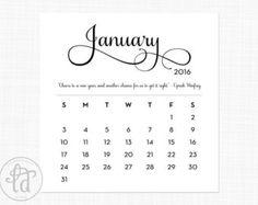 Cute January 2016 Calendar (shared via SlingPic)