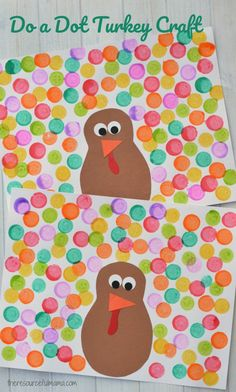 Do a dot turkey craft - Easy Thanksgiving crafts for kids - These fun crafts will keep your little ones occupied during the feast or before the holiday to prepare. turkey crafts Thanksgiving Crafts For Kids Thanksgiving Crafts For Kids, Holiday Crafts, Thanksgiving Turkey, Thanksgiving Prayer, Thanksgiving Appetizers, Thanksgiving Outfit, Thanksgiving Decorations, Thanksgiving Recipes, Daycare Crafts
