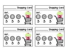"""These little """"shopping cards"""" help guide emerging readers to shop productively for just-right books each week.  You can read more about how we use these cards in our classroom at my blog post:  Shopping Cards{Creating Readers and Writers Blog}"""