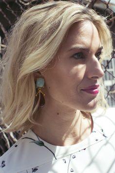 f146fe9f05 Housewives Of New York, Night Looks, Last Night, Pearl Earrings, Pearl  Studs, Beaded Earrings, Bead Earrings. Jennifer Miller Jewelry · Kristen  Taekman