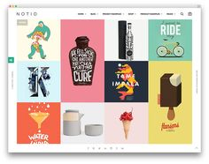 notio clean minimal portfolio theme #ecommerce