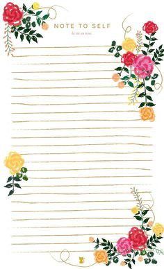 Floral Notepad by LucySuiSF