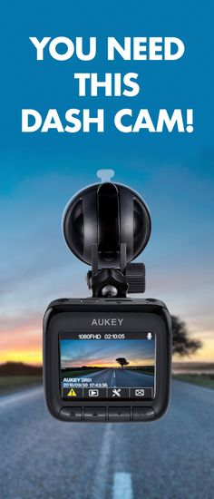 Protect yourself and your car with this AUKEY Dash Cam.
