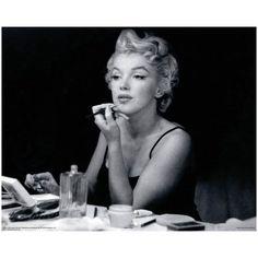 Marilyn Monroe Putting on Makeup.