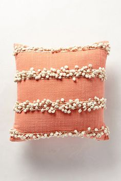 tassel trace pillow @ anthropologie - try DIY pom pom fringe Diy Pillows, Decorative Pillows, Cushions, Throw Pillows, Accent Pillows, Diy Cushion, Cushion Covers, Cushion Pillow, Bohemian Bedding