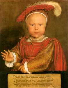 Edward VI of England Christening Portrait by Holbein King of England and Ireland from 28 January 1547 until his death. He was crowned on 20 February at the age of nine.  Born: October 12, 1537, Hampton Court Palace, Molesey Died: July 6, 1553, Palace of Placentia, Greenwich Buried: August 9, 1553 Parents: Jane Seymour, Henry VIII of England Siblings: Elizabeth I of England, Mary I of England