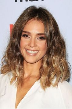 Mid-length Ombre Wavy Lob Hairstyle