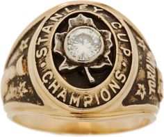 1963 Toronto Maple Leafs Stanley Cup Championship Ring
