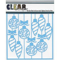 Clear Scraps Stencils 12'X12'-Swirl Christmas Bulbs – Oxeme Gifts