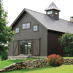 Glamorous Pole Barn Homes convention Other Metro Rustic Exterior Image Ideas with barn Barn Conversion Barn home barn house barn living conversion cupola exposed beams gable Building A Pole Barn, Metal Building Homes, Building Design, Building A House, Building Ideas, Metal Homes, Building Plans, Farmhouse Exterior Colors, Rustic Exterior