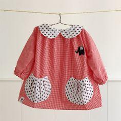 Image of Bata ¡Ahoy! Frocks For Girls, Little Girl Outfits, Toddler Girl Dresses, Little Dresses, Kids Outfits, Girls Dresses, Blouse Ecole, Smocked Baby Dresses, Pretty Little Dress