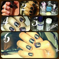 Galaxy nail tutorial! Easy, six steps.