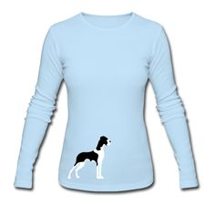 Powder blue Great Dane Mantle Long sleeve shirt...wouldnt mind this one either