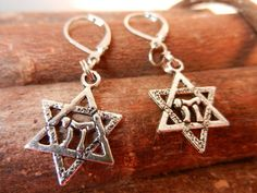 Star of David Earrings by Sewstacycharms