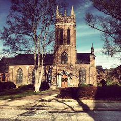 """St. Luke's Episcopal Church, Salisbury, NC  """"When I remember these things, I pour out my soul in me: for I had gone with the multitude, I went with them to the house of God, with the voice of joy and praise, with a multitude that kept holyday"""" (Psalm 42:4)"""