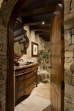 lovely mountain house bath