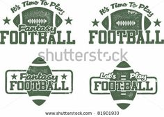 American Football and Fantasy Football Stamps by squarelogo, via Shutterstock Fantasy Football Logos, Fantasy Football Funny, Fantasy Football Champion, American Football Memes, Funny Football Memes, Football Humor, Football Football, Football Shirts, Funny Memes