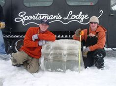 Got ice? We do! Every year we get between 30-50 inches of ice on Lake of the Woods, MN. It is a ice fishing and outdoor persons paradise. http://sportsmanslodges.com/rainyriver/fishing/ice-fishing/