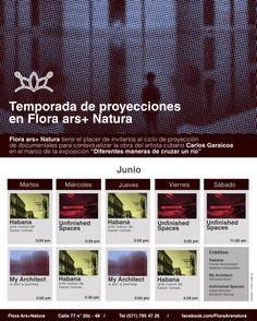 Horarios de la programación de proyecciones de los tres documentales que amplían el contexto de la obra 'Diferentes maneras de cruzar un río', de Carlos Garaicoa, #EnExposición en FLORA.