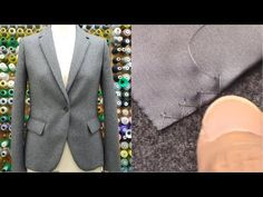 """(8) How to sew a jacket PART7 tutorial """"Hand blind stitch, Sew a button, Button hole, Ironing"""" - YouTube"""