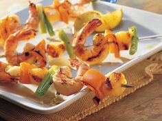 How To Make Grilled Spicy Garlic Shrimp, Pepper and Pineapple Kabobs recipe