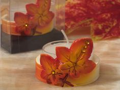 Splendid Autumn themed candle holder