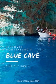 The Blue Cave is one of Montenegro& top attractions. It& a small cave . Europe Travel Tips, Travel And Leisure, Travel Goals, Places To Travel, Travel Destinations, Oh The Places You'll Go, Places To Visit, Montenegro Travel, Destination Voyage