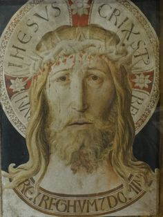 BENOZZO GOZZOLI (1421 - 1497) -The Face of Christ. Treasury Museum, Basilica of Saint Francis. Assisi, Italy.