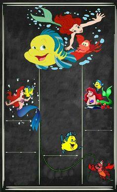1st Birthday Party For Girls, Little Mermaid Birthday, Birthday Cards For Boys, Ariel The Little Mermaid, Mom Birthday Gift, Mermaid Invitations, Baby Invitations, Birthday Party Invitations, School Board Decoration