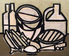 "Artist America Martin / ""Picnic"" / oil & acrylic on canvas / 44x52 inches / Wally Workman Gallery / Austin, Texas"