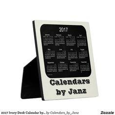 2017 Ivory Desk Calendar by Janz Plaque