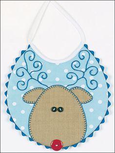 Reindeer Bib - Baby Bib Sewing Pattern
