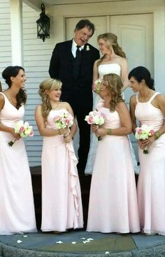 I love the four different bridesmaid dresses! Different Bridesmaid Dresses, Wedding Costumes, Presentation, Wedding Dresses, Fashion, Bride Dresses, Moda, Bridal Gowns, Fashion Styles