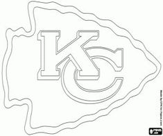 Free Kansas City Chiefs Logo, American football team in the West Division AFC, Kansas City, Missouri coloring and printable page. Kansas City Chiefs Football, Football Team, Nfl Chiefs, Nfl Panthers, American Football, Kc Cheifs, Football Crafts, Football Decor, Football Coloring Pages