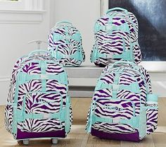 Mackenzie Plum Zebra Backpacks #pbkids