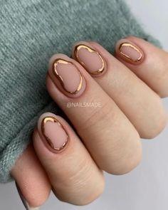 Nail Art Designs Videos, Nail Art Videos, Stylish Nails, Trendy Nails, Cute Acrylic Nails, Cute Nails, Gold Nail Designs, Simple Nail Designs, Nails Design