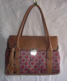 Ellen Tracy NWT Ramona Shoulder Bag Purse Red Bllue Beige #EllenTracy #ShoulderBag