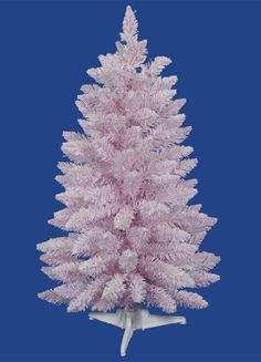 "$39.99-$59.99 3' Flocked Cupcake Pink Artificial Spruce Christmas Tree - Unlit - From the Flocked Cupcake Pink Collection Item #A101535  Product Features: 111 tips Unlit Hinged-branch construction For indoor use only Comes with a white metal tree stand Dimensions: 3 feet high 22"" base diameter (at the widest point) Material(s): PVC/metal/flocking http://www.amazon.com/dp/B00470V12U/?tag=pin2wine-20"