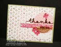 Stampin' Up! Greetings Thinlits by Melissa Davies @rubberfunatics #rubberfunatics #stampinup