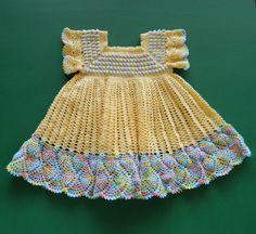 Lovely crochet baby dress