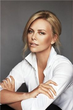 Charlize Theron - white shirt