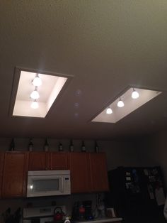A Great Idea For Updating The Ugly Fluorescent Light Box Without - Kitchen light fixtures to replace fluorescent