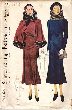simplicity coat 1860 by carbonated, via Flickr