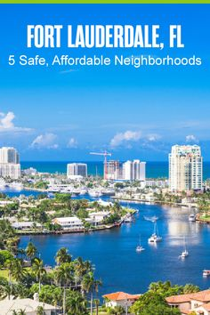 Thinking about living in Fort Lauderdale? This South Florida city attracts everyone from young professionals to retirees, thanks to its affordable living, beach access, amazing climate, and plenty of things to do. If you're moving to Fort Lauderdale, here are five safe, affordable neighborhoods you should consider! Florida City, South Florida, Moving To Another State, Rio Vista, Fort Lauderdale Beach, New River, Florida Living, West Palm Beach, State Parks