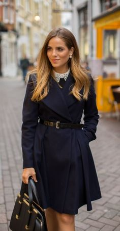 leather belt and coat